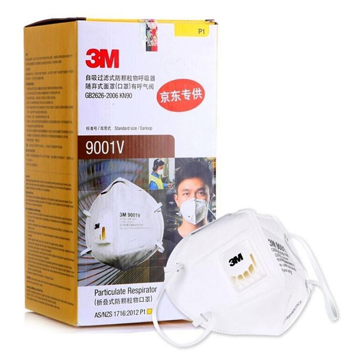 COMBO 25 Cái Khẩu trang lọc bụi, bảo vệ hô hấp 3M 9001V