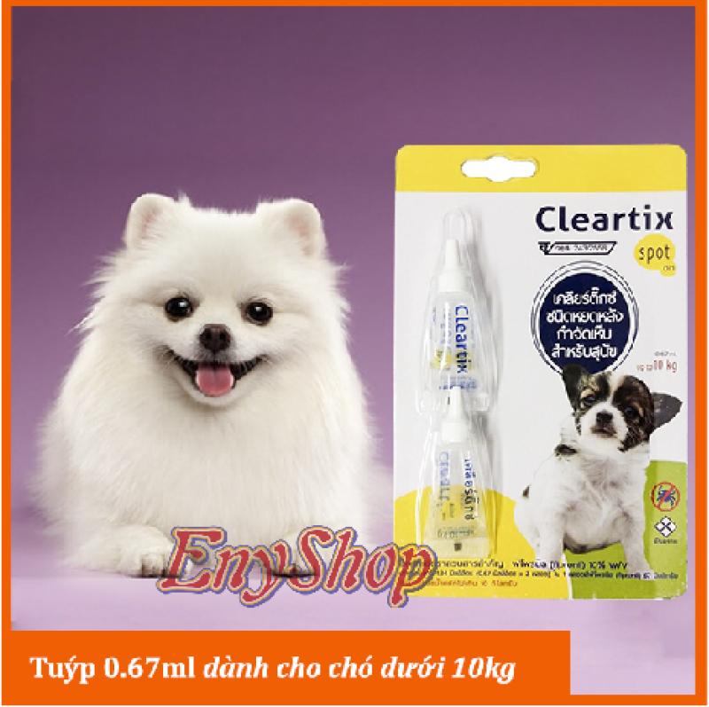 Tuýp nhỏ da diệt ve, bọ chét cho chó Cleartix Spot on (Thái Lan)