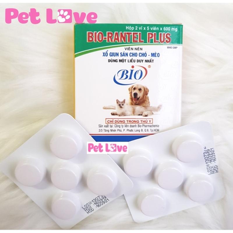 Bio Rantel Plus xổ giun sán cho chó mèo lớn 1 hộp x 10 viên