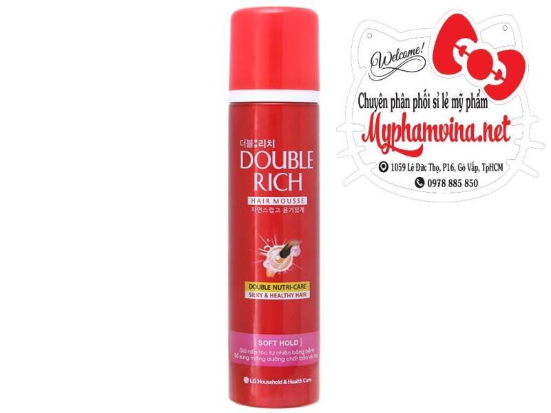 Mousse tạo kiểu tóc Double Rich Hard Hold 150ml giá rẻ