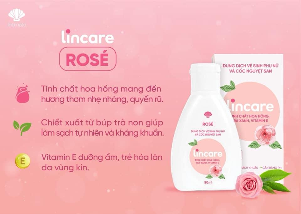 Giá gốc Dung dịch vệ sinh lincare rose cao cấp