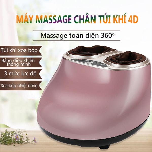 Máy massage chân mát xa chân xoa bóp chân đa năng túi khí bao bọc, máy mát xa màu trắng và hồng đất - Pink - Super Bank cao cấp