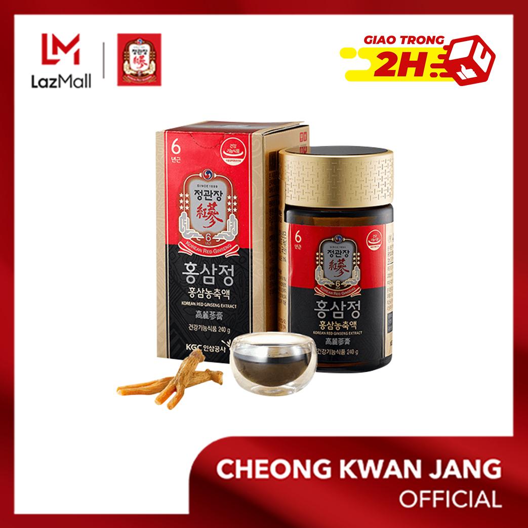 Tinh chất hồng sâm cô đặc KGC Cheong Kwan Jang Global hộp 240g - Tăng đề kháng, bồi bổ cơ thể toàn diện, chống lão hoá, bảo vệ gan (Tỉ lệ hồng sâm : 100%)