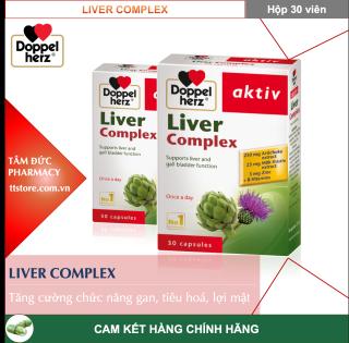 DOPPEL HERZ - LIVER COMPLEX [Hộp 30 viên] - Giải độc gan, thanh lọc cơ thể, Lợi mật [aktiv] thumbnail