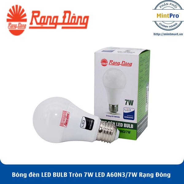 Bóng đèn LED BULB Tròn 7W LED A60N3/7W Rạng Đông - Hàng Chính Hãng