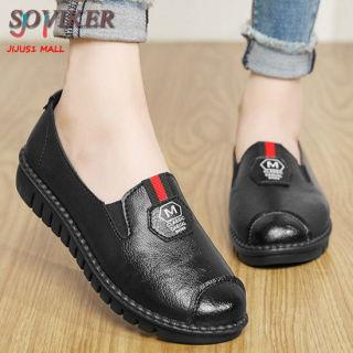 SOVIKER Giày Nữ Thời Trang Giản Dị Giày Bệt Cỡ Lỡn 35-41 Phụ Nữ Mới Phẳng Đầu Tròn Không-Trượt Đặt Chân Giày Dành Cho Các Bà Mẹ Cho Phụ Nữ thumbnail