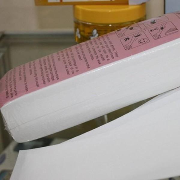 Giấy wax lông 100 tờ nhám hỗ trợ tẩy lông tại nhà
