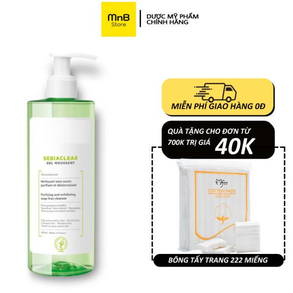 Sữa rửa mặt SVR Sebiaclear Gel Moussant cho da dầu mụn nhạy cảm 400ml - Hàng Chính Hãng Pháp