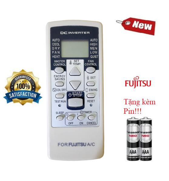 Điều khiển điều hòa Fujitsu 1&2 chiều Inverter- Hàng tốt 100% Tặng kèm Pin!!!