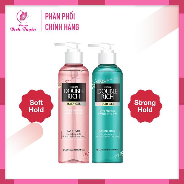 Gel Tạo Kiểu Tóc DOUBLE RICH HAIR GEL - Soft Hold và Strong Hold 250ml Giữ Nếp Tóc