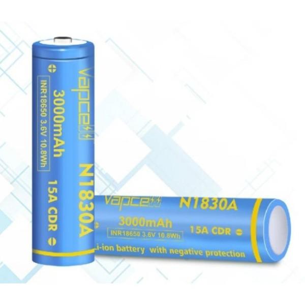 [P65] Pin Vapcell N1830A 18650 3000mAh xả cao 15A có mạch bảo vệ (lõi 30q)