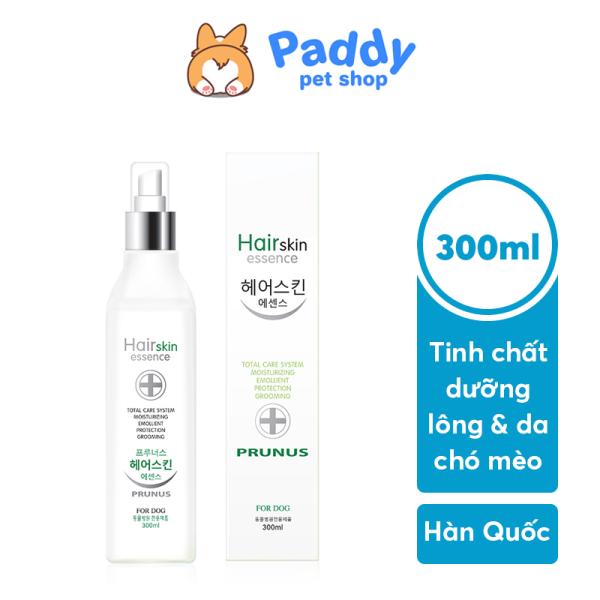 Tinh Chất Xịt Dưỡng Da & Lông Chó Mèo Prunus Hair Skin Essence 300ml (Hàn Quốc)