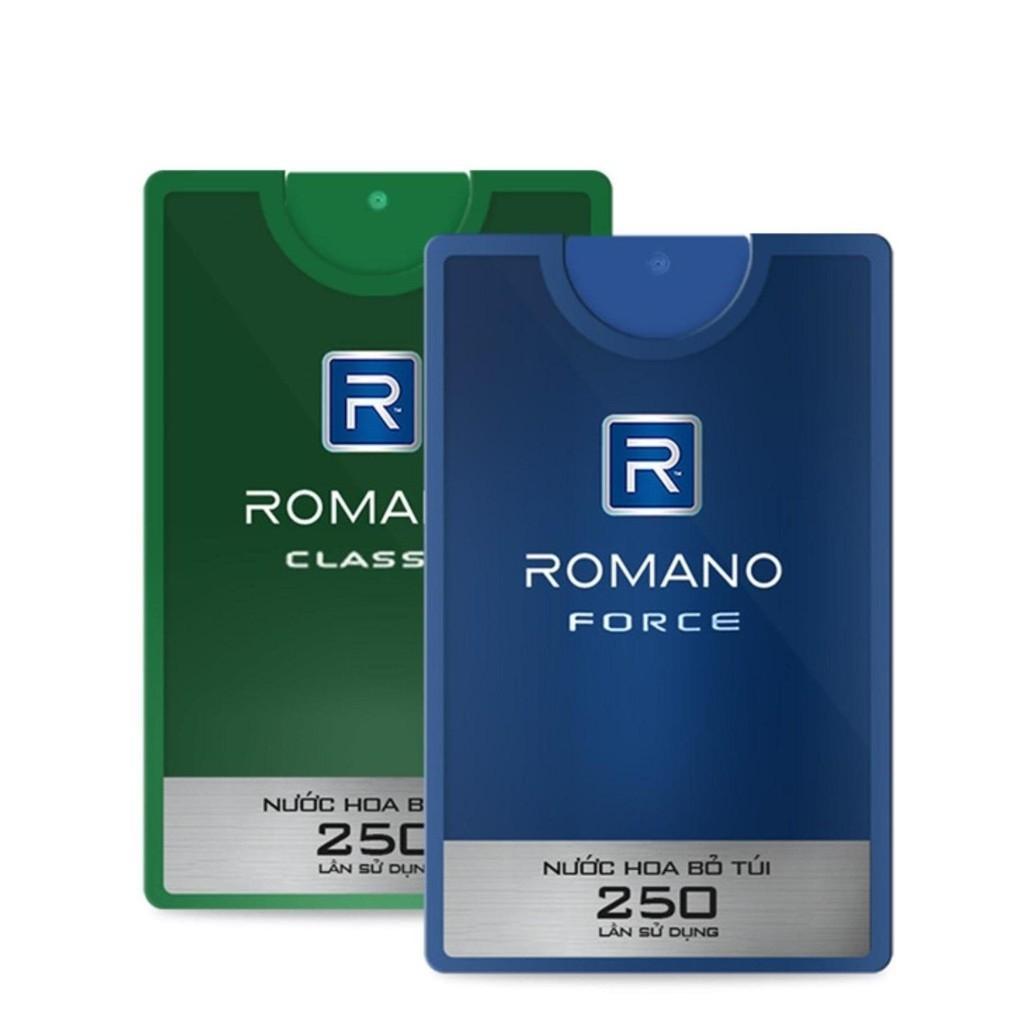 Nước hoa cao cấp dành cho Nam Romano 18ml - có 2 mùi
