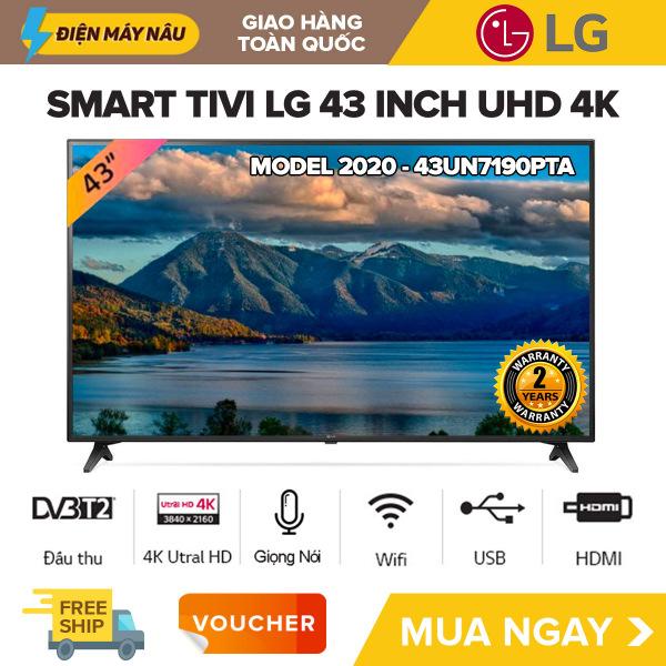 Bảng giá [TRẢ GÓP 0%] Smart Voice Tivi LG 43 inch UHD 4K - Model 43UN7190PTA Tìm kiếm giọng nói, Chiếu màn hình điện thoại, WebOS Smart TV, AI ThinQ, Ultra Surround, Bluetooth 5.0, Tivi Giá Rẻ - Bảo Hành 2 Năm
