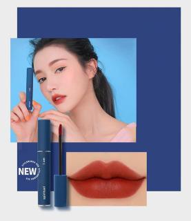 Son kem MẪU MỚI TOANH trend ColorOfTheYear2020 màu xanh, son 3CE Velvet Lip Tint Speak Up, son 3CE vỏ xanh thumbnail