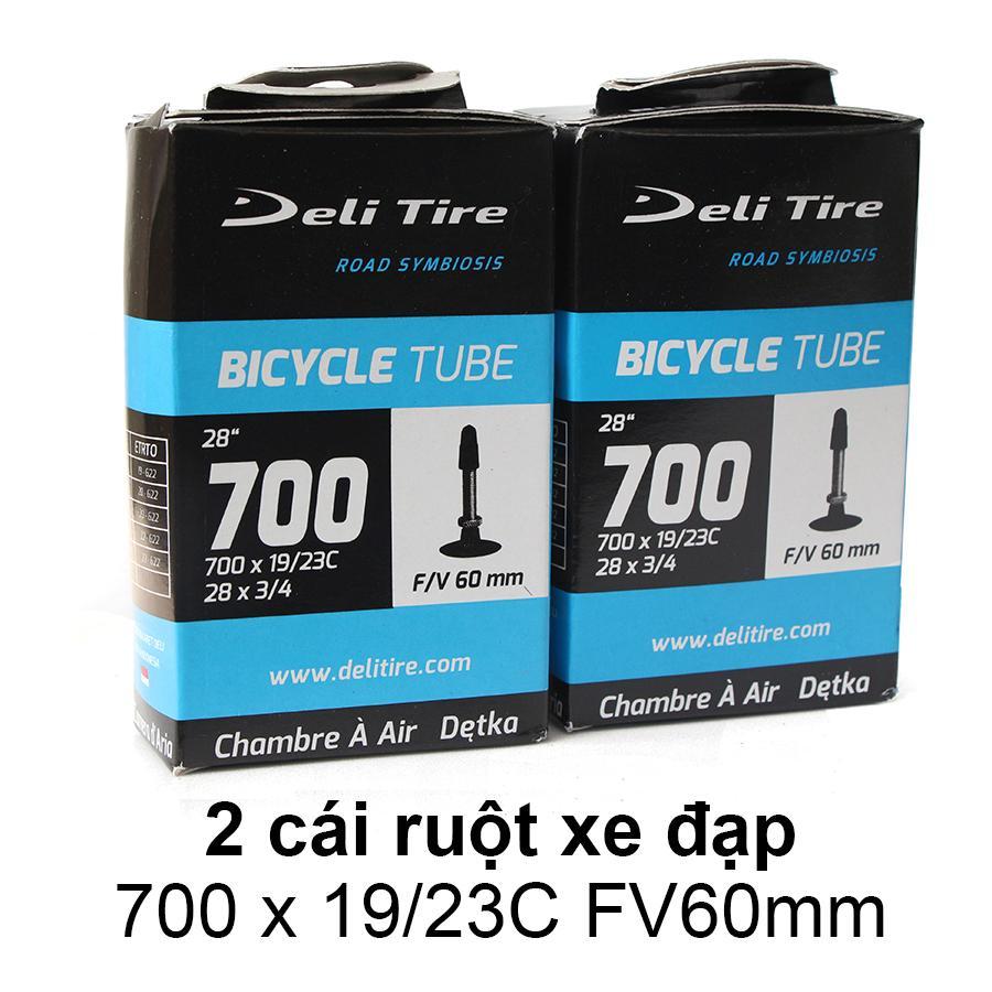 Mua Ruột xe đạp, săm xe đạp 700x19/23C FV60mm DELI-TIRE ( Gồm 2 cái )-- SPORTS WORLD SHOP
