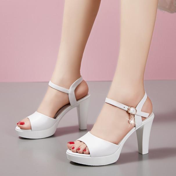 Giày Cao Gót Nữ 7p Quai Da Mềm (Đen,Trắng) - CG63 giá rẻ