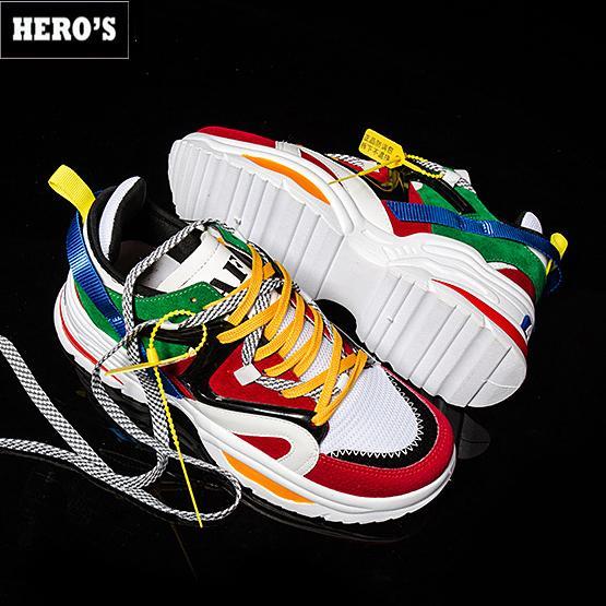 Giày Sneaker Nam Cá Tính, Phong Cách Hàn Quốc Siêu Hot  CLR (GIÁ CỰC SỐC) (Nhiều Màu) (Có Video) Đang Có Ưu Đãi