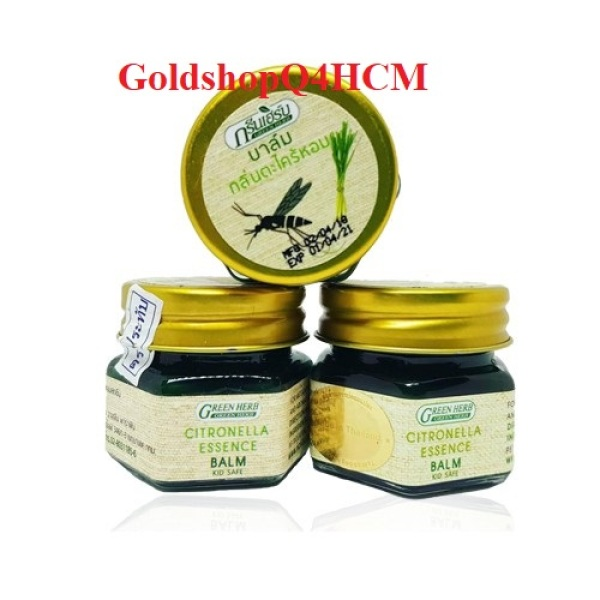 (HCM) Cù là bôi muỗi đốt Green Herb Balm 20g Thái Lan