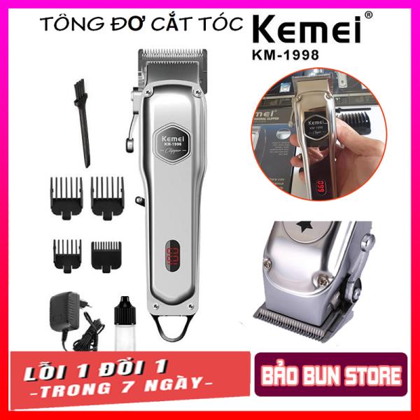Tông đơ cắt tóc cao cấp Kemei 1998 thân nhôm nguyên khối, tăng đơ hớt tóc chuyên nghiệp không dây sạc pin đẳng cấp hơn tông đơ cắt tóc gia đình JC0817 (tong do cat toc), codol ch531