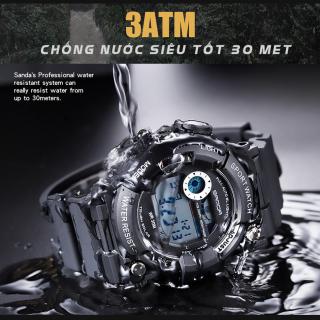 Đồng hồ Nam SANDA JAPAN Chuẩn Bền Quân Đội, 2 Máy Chạy Song Song, Chống Nước Rất Tốt 7