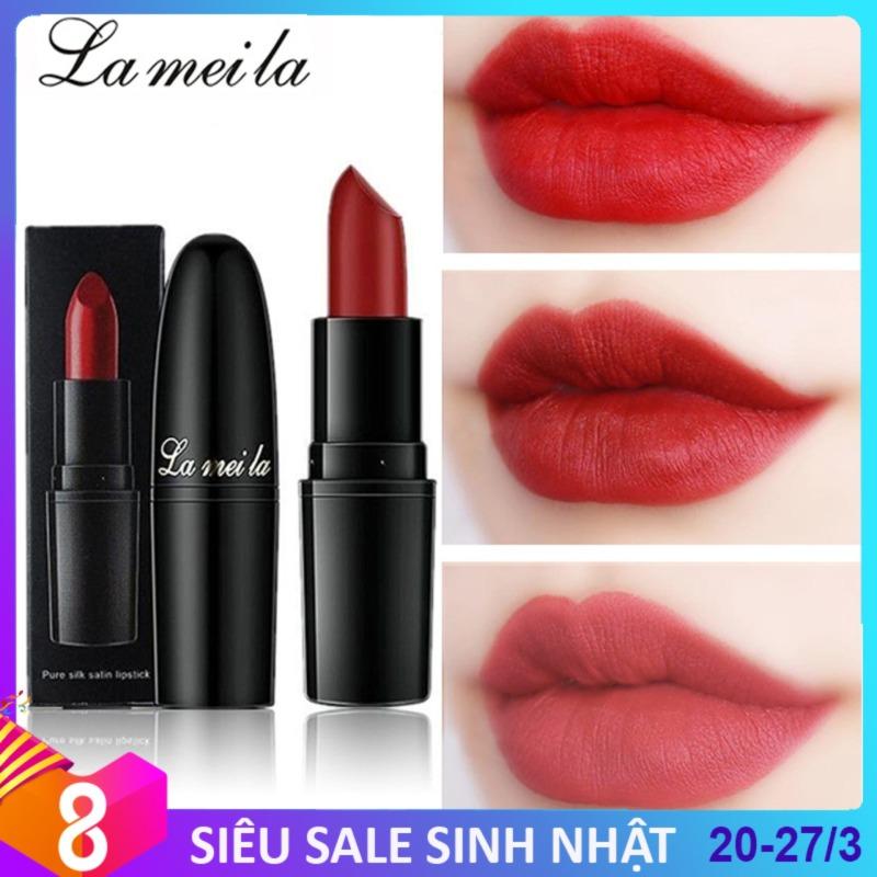 Son lì La Mei La siêu nhẹ môi màu sắc quyến rũ son trang điểm son thỏi son môi IW-SM69