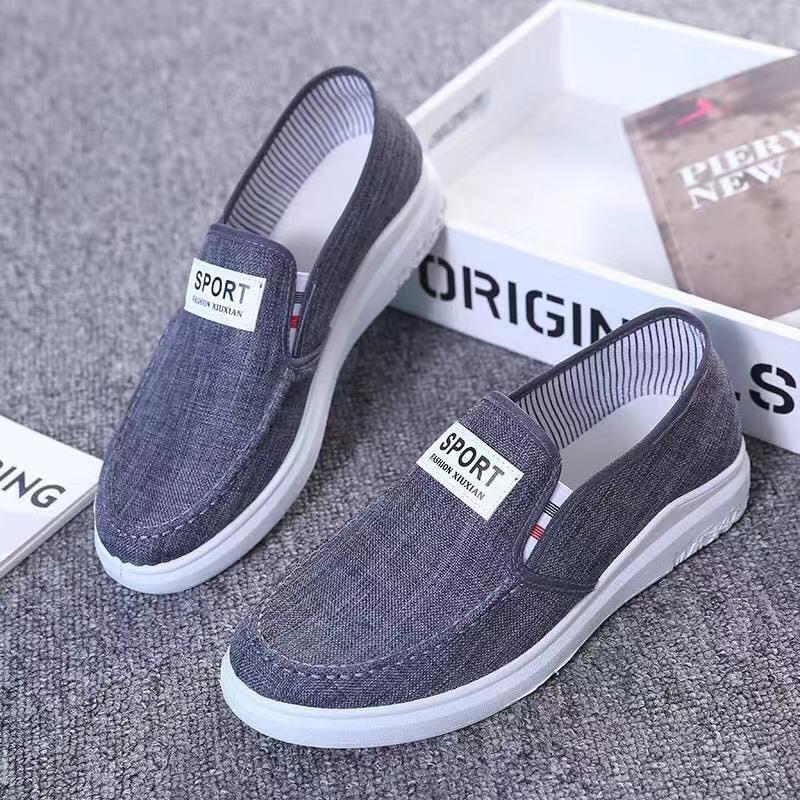 (Có 2 Màu) Giày lười vải nam sport phom đơn giản - B end T Shop