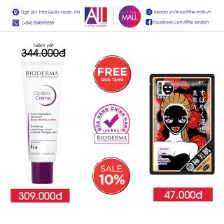 Kem dưỡng ẩm và phục hồi da Bioderma cicabio crème 40ml TẶNG mặt nạ Sexylook (Nhập khẩu) thumbnail