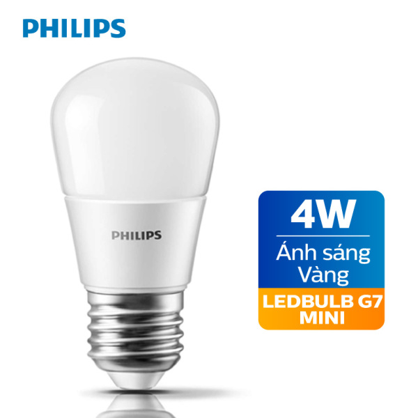 Bóng đèn Philips LED 4W 3000K E27 P45 - Ánh sáng vàng