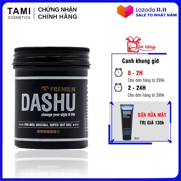 Sáp vuốt tóc nam DASHU For Men Premium Original Super Mat Tạo kiểu linh hoạt Giữ nếp tốt Hiệu ứng mờ không bóng 100ml TM-SA02 giá rẻ