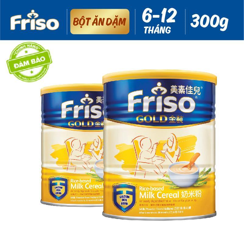 Bộ 2 Lon Bột ăn dặm Friso Gold 300gr