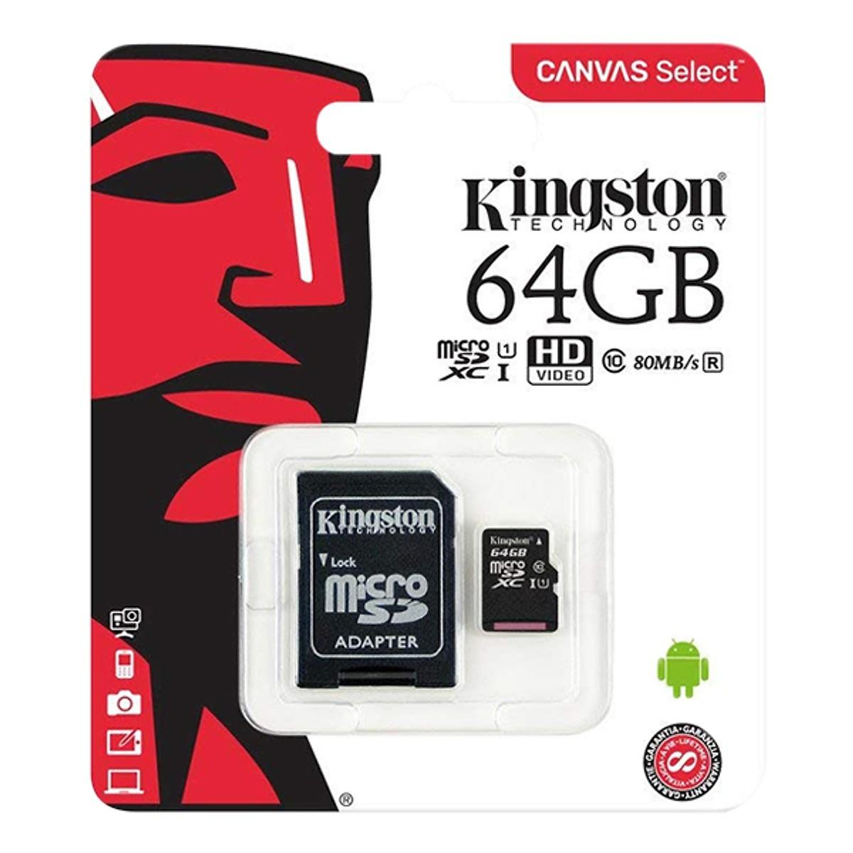 Thẻ nhớ microSD Kingston 64G Class 10 - Hàng nhập khẩu chính hãng