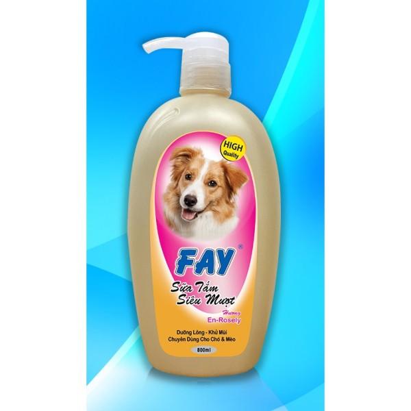 Sữa tắm chó mèo siêu mượt Fay hương En-rosely 800ml&300ml