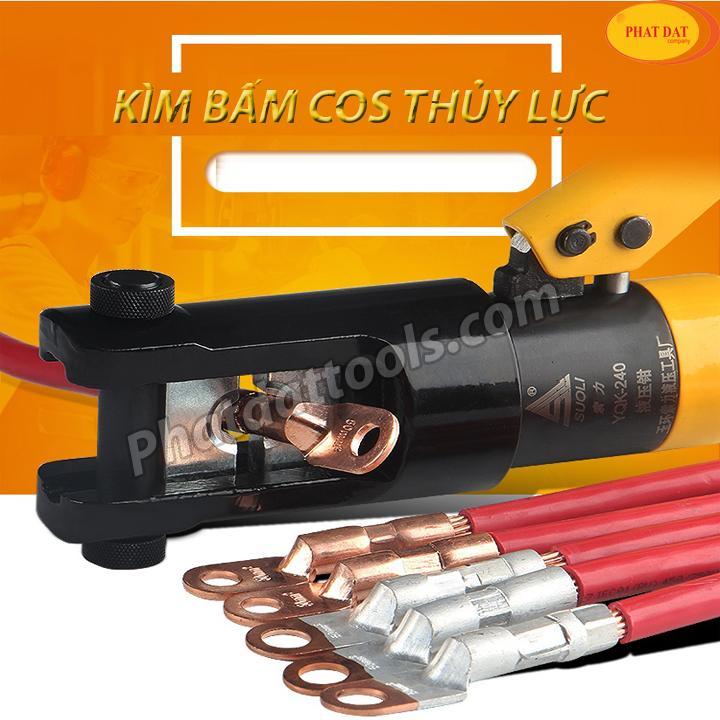 Kìm bấm cos điện thủy lực YQK120-Phạm vi ép 10-120mm2