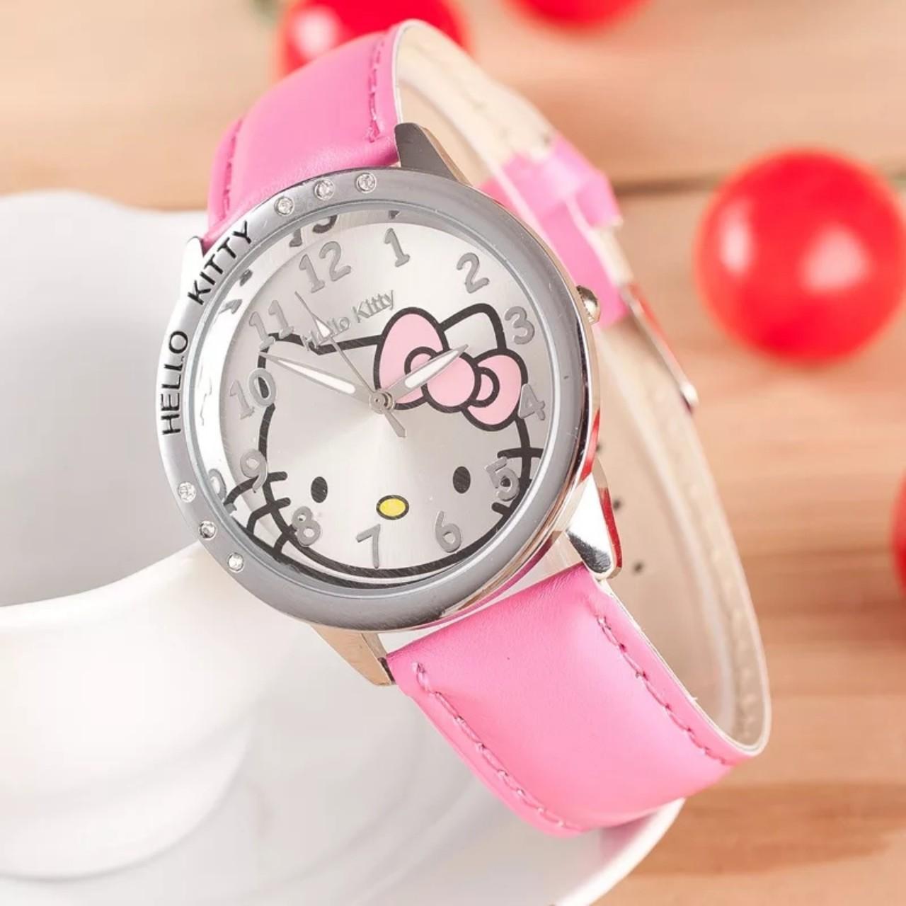 Giá bán Đồng hồ đeo tay cho bé gái hình Kitty dây da xinh xắn – DH004