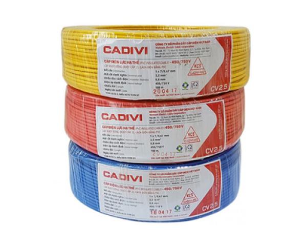 Dây điện CADIVI nguyên cuộn _ BÁN SỈ GIÁ SỐC, RẺ HƠN HOÀN TIỀN _ VCMD2 x 0.75, CVMD2 x 0.5, CVMD2 x 1, CV2