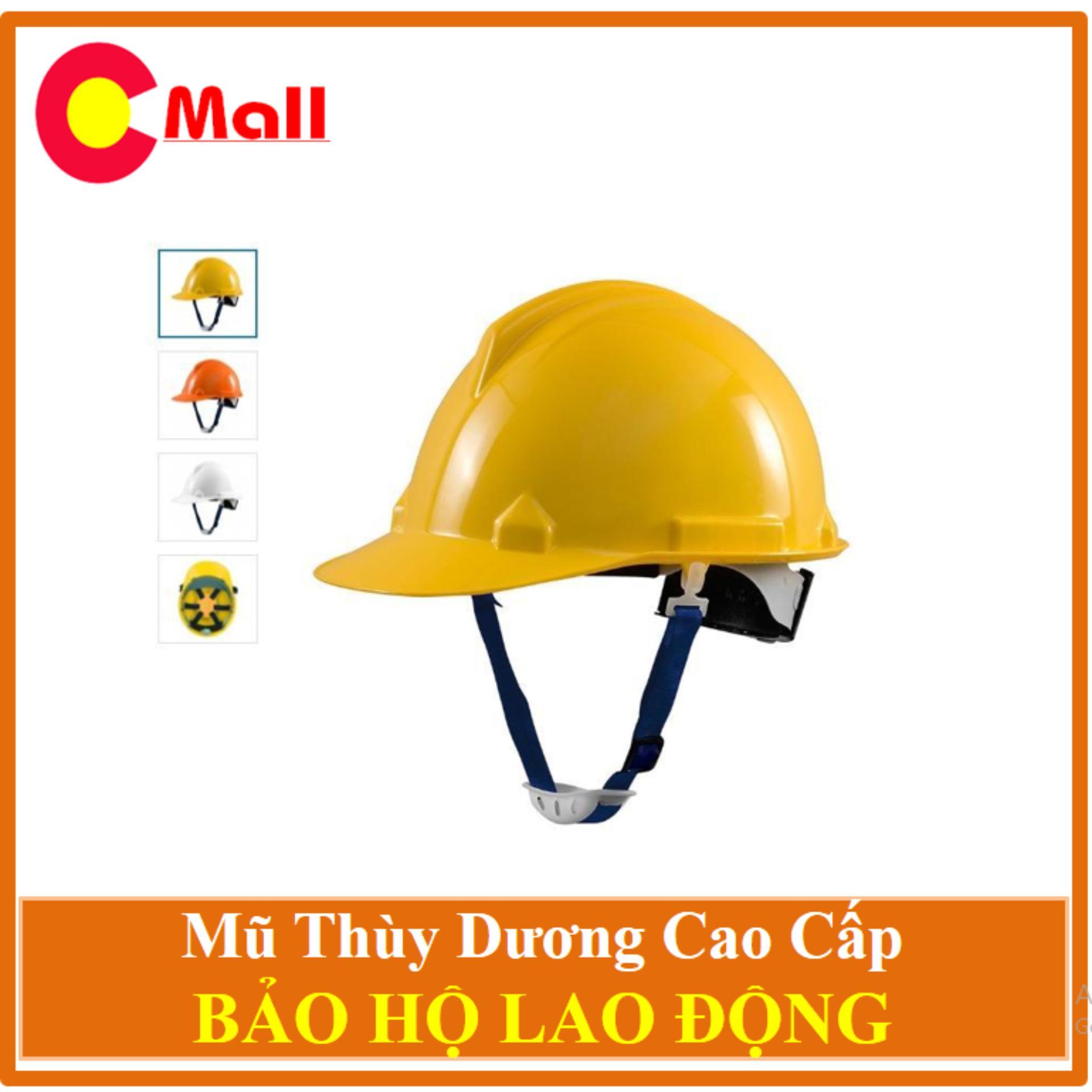 Mũ Bảo Hộ Thùy Dương Có Nút Vặn An Toàn - Tặng 02 Khẩu Trang 3M Cao Câp