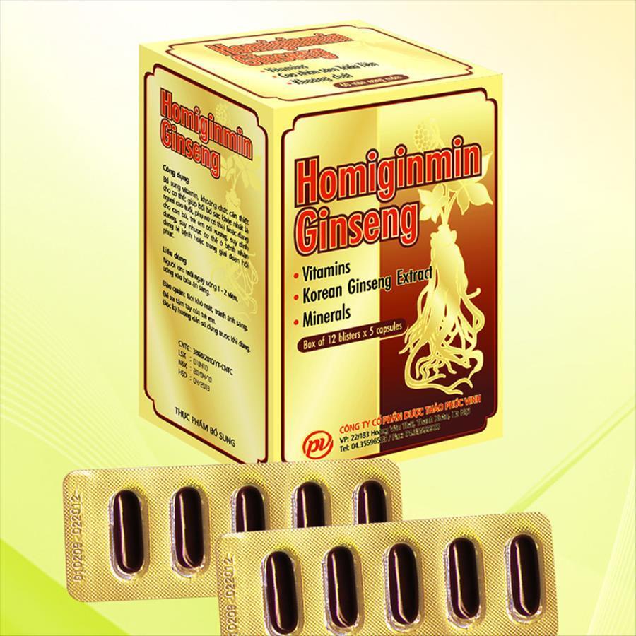 VIÊN UỐNG BỔ HOMIGINMIN GINSENG – Bổ sung vitamin, khoáng chất tăng cường sự trao đổi chất nhập khẩu
