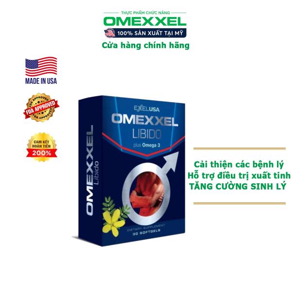 Viên uống tăng cường sinh lý nam giới Omexxel Libido -  Chính hãng Mỹ (Hộp 30 viên) cao cấp