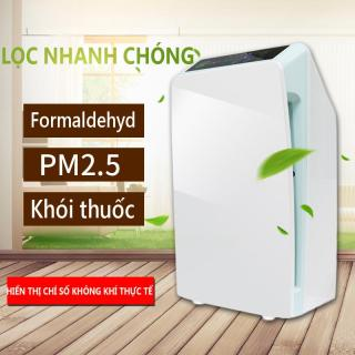 Máy lọc không khí cỡ nhỏ dùng tại nhà, lọc formandehyl, bụi min, mùi lạ khó chịu thumbnail