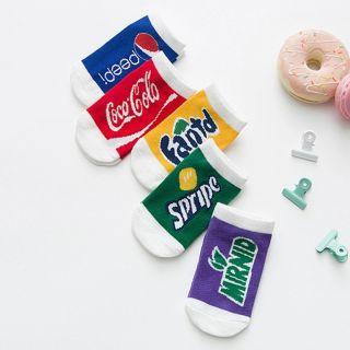 PatPat 5 Đôi Tất Cotton Thiết Kế Đồ Uống Soda, Dành Cho Bé Trai Và Bé Tập Đi