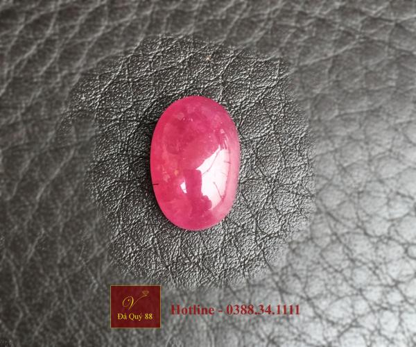 Viên Đá Ruby Tự Nhiên Yên Bái size 8,8ct Làm Mặt Nhẫn, Mặt Dây Chuyền Nam