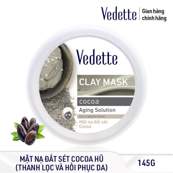 Mặt nạ đất sét sạch sâu dịu nhẹ Cocoa Vedette Clay Mask Cocoa 145g (dạng hũ)