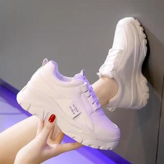 Giày sneaker nữ Rong Ye chất da đẹp kiểu hàn quốc mới nhất , Hot Trend HAPU (kem, trắng) thumbnail