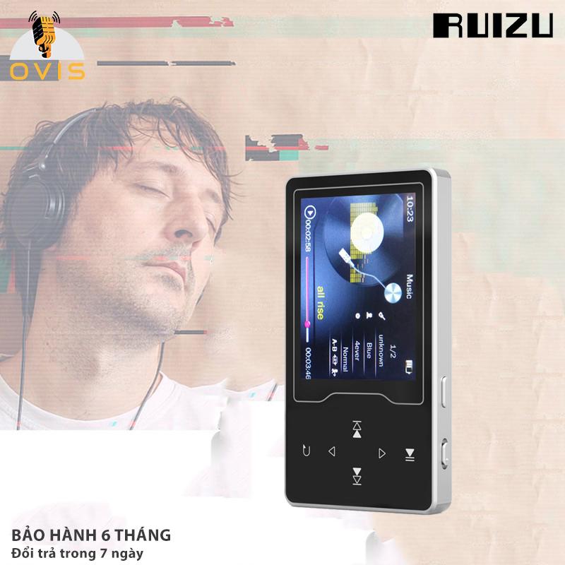 [BH 1 ĐỔI 1] Máy Nghe Nhạc MP3 Ruizu D08 Màn Hình HD, Chơi Nhạc Kết Hợp Video