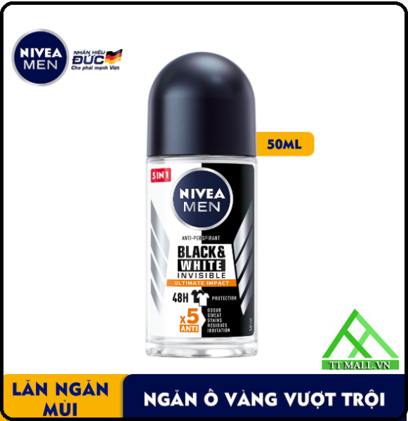 Lăn Khử Mùi Nam Black & White Ngăn Ố Nivea 50ml