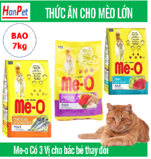 HCM -Me-o 7kg Thức ăn viên cho mèo lớn - CÁ NGỪ - CÁ THU - HẢI SẢN dạng bao 7kg thức ăn mèo trưởng thành (trên 1 năm tuổi) thumbnail