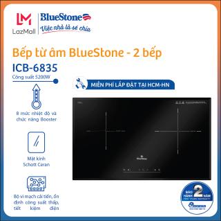 Bếp Âm Từ Đôi Bluestone ICB-6835 [Miễn phí lắp đặt HCM HN] (5200W) - Mặt kính Schott Ceran chịu nhiệt và chịu lực cao - Hàng chính hãng thumbnail