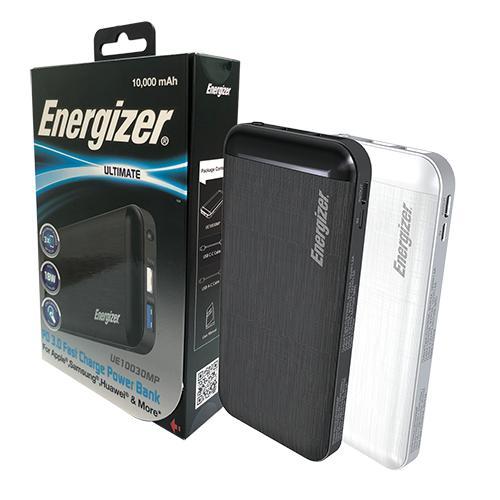 Pin dự phòng Energizer SIÊU NHÂN 10000mAh Sạc nhanh đa nền tảng - UE10030MPWE
