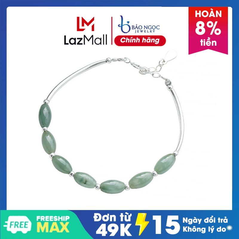 Lắc Tay Ngọc Jade Miến Điện LTT08 Bảo Ngọc Jewelry - gian hàng chính hãng